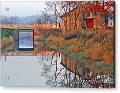 Sunrise On The I And  M Canal Acrylic Print by Paula Guttilla