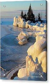 Sunrise On The Ice Acrylic Print