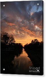 Sunrise On The Illinois Michigan Canal Acrylic Print