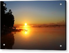 Sunrise On The Lake 2 Acrylic Print by Bruce Bley