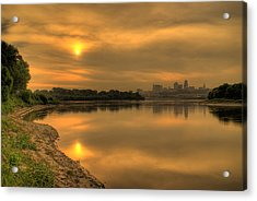 Sunrise On The Missouri River Acrylic Print by Don Wolf