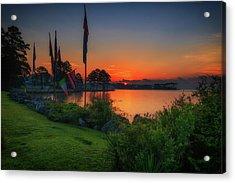 Acrylic Print featuring the photograph Sunrise On The Neuse 2 by Cindy Lark Hartman