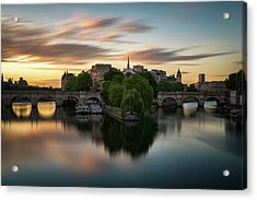 Sunrise On The Seine Acrylic Print