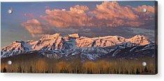 Sunrise On Timpanogos Acrylic Print