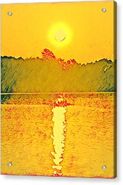 Sunrise On Town Lake Acrylic Print