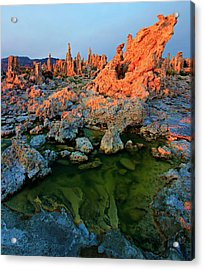 Sunrise On Tufa 2 Acrylic Print