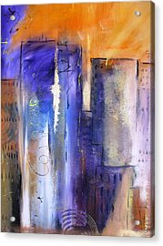 Sunrise On Twin Towers Acrylic Print by Gary Smith