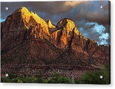 Sunrise On Zion National Park Acrylic Print