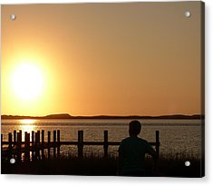 Sunrise Over Assateaque Acrylic Print by Donald C Morgan