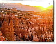 Sunrise Over Bryce Canyon Acrylic Print