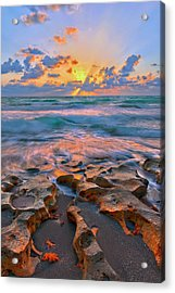 Sunrise Over Carlin Park In Jupiter Florida Acrylic Print
