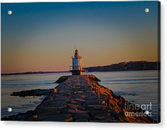 Sunrise Over Casco Bay  Acrylic Print by Victory Designs