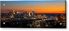 Sunrise Over Cincinnati Acrylic Print by Keith Allen