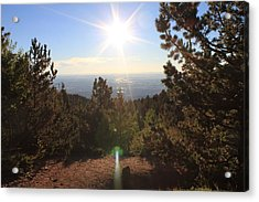 Sunrise Over Colorado Springs Acrylic Print
