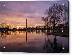 Sunrise Over Constitution Gardens Acrylic Print