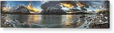 Sunrise Over Deep Emerald Ice Acrylic Print by Royce Howland