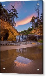 Acrylic Print featuring the photograph Sunrise Over Hug Point by Darren White