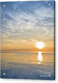 Sunrise Over Lake Michigan In Chicago Acrylic Print