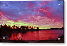 Sunrise Over Lake Murray Acrylic Print