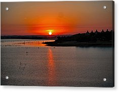 Acrylic Print featuring the photograph Sunrise Over Lake Ray Hubbard by Diana Mary Sharpton