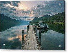 Sunrise Over Lake Rotoroa Acrylic Print