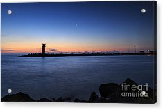 Sunrise Over Lighthouse - Beautiful Seascape Acrylic Print