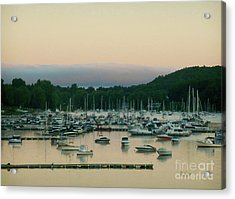 Sunrise Over Mallets Bay Variations - Three Acrylic Print