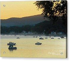 Sunrise Over Malletts Bay Panorama - Nine V2 Detail Acrylic Print