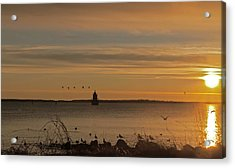 Sunrise Over New Bedford Acrylic Print