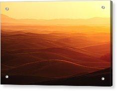 Sunrise Over Palouse Acrylic Print