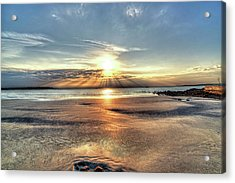 Sunrise Over Red Rock Park Lynn Ma Kings Beach Acrylic Print