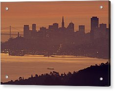 Sunrise Over San Francisco Acrylic Print by Soli Deo Gloria Wilderness And Wildlife Photography