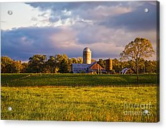 Sunrise Over Silos Acrylic Print