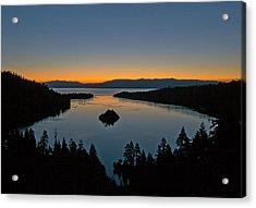 Sunrise Over South Lake Tahoe - Emerald Bay Acrylic Print