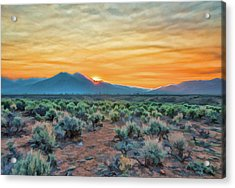 Sunrise Over Taos Acrylic Print