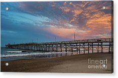 Sunset Over The Atlantic Acrylic Print
