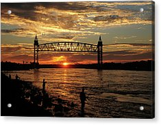 Sunrise Over The Canal Acrylic Print by Nancy Marshall