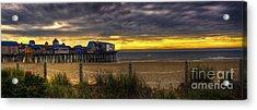 Sunrise Over The Empty Beach Acrylic Print
