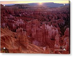 Sunrise Over The Hoodoos Bryce Canyon National Park Acrylic Print