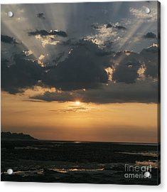 Sunrise Over The Isle Of Wight Acrylic Print