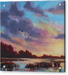 Sunrise Over The Marsh Acrylic Print