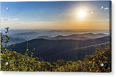 Acrylic Print featuring the photograph Sunrise Over The Misty Mountains by Lori Coleman