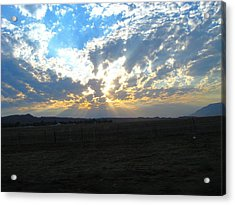 Sunrise Over The Pass Acrylic Print by Mitch Hino