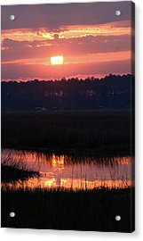 Acrylic Print featuring the photograph Sunrise Over The River by Margaret Palmer