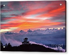 Acrylic Print featuring the photograph Sunrise Over The Smoky's II by Douglas Stucky
