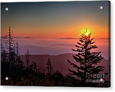 Acrylic Print featuring the photograph Sunrise Over The Smoky's IIi by Douglas Stucky