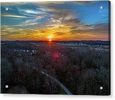 Sunrise Over The Woods Acrylic Print