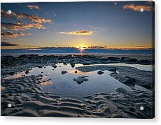 Acrylic Print featuring the photograph Sunrise Over Wells Beach by Rick Berk