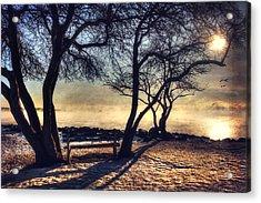 Sunrise Over Whaleback Lighthouse - New Castle, Nh Acrylic Print by Joann Vitali