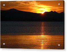Sunrise Over Yellowstone Lake Acrylic Print